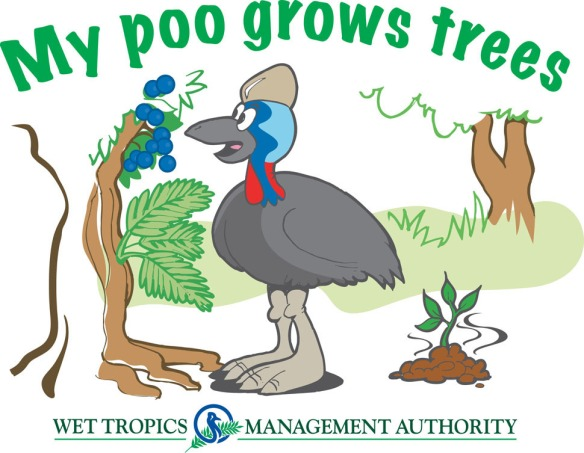 My poo grows trees