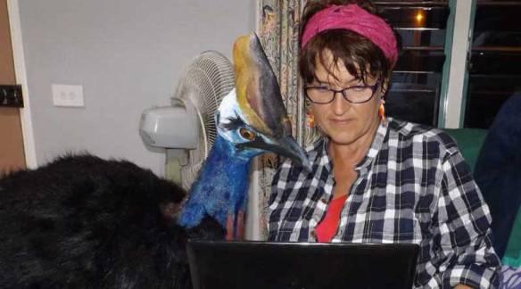 Anne O'Brien organising Colin's flight from Fiji